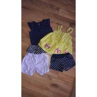 Фирменные летние маечки и шорты для девочки рост 104-110 см.