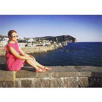 Розовое платье на лето, в мелкую звездочку