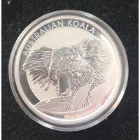 Австралия, 1 доллар ,серебро,  коала , 2014