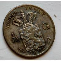Голландская Ост-Индия 1/10 гульдена, 1893 1-7-27