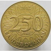 Ливан 250 ливров 2012