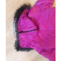 Куртка зимняя цвета фуксии удлиненная не китайская качественная4
