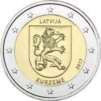 2 евро Латвия 2017 Историческая область Курземе