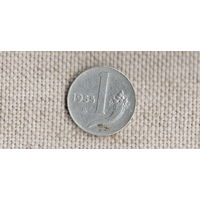 Италия 1 лира 1955 /(Va)
