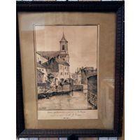 Рисунок/паспарту/рама, авторство NOUTVEN, 1902 г., Франция