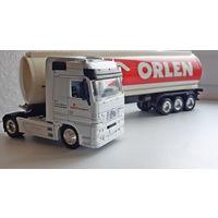 Грузовик автоцистерна Orlen / Mercedes Actros / New-Ray 37 см