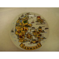 Тарелка сувенирная . Сувенир . Дания