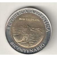 Аргентина 1 песо 2010 200 лет Аргентине Мар-дель-плата