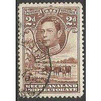 Бечуаналенд. Король Георг VI. Стадо скота. 1938г. Mi#104.