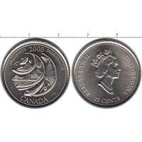 Канада 25 центов 2000 Достижение UNC