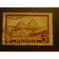 Швейцария. 1928г. Горы.