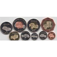 Остров Бонэйр. Набор 9 монет 2014г. Ретроавтомобили.