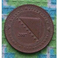 Босния и Герцеговина 10 феннингов 2007 года. Инвестируй в монеты планеты к финалу ЧМ по футболу 2018!!!