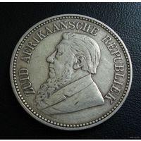 ZAR, Трансвааль (Южно-Африканская Республика). 2,5 шиллинга 1897 г. Пауль Крюгер.