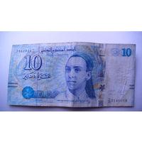 Тунис 10 динаров 2013г.   распродажа