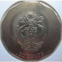 Соломоновы острова 50 центов 2005 г. В холдере (gk)