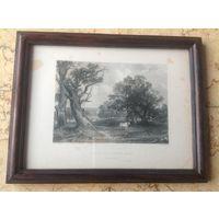 Старинная английская гравюра 1836 г.