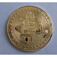 Биткоин (в капсуле), криптовалюта, сувенирная монета
