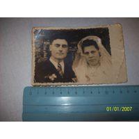Свадебное фото 1930-1940 гг