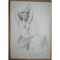 Крохалев Петр. Женщина. 21х29 см. Рисунок. Бумага. карандаш.