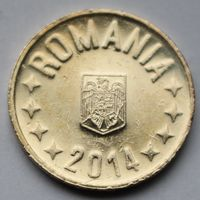 Румыния, 50 бани 2014 г.