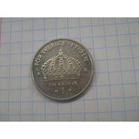 Швеция 1 крона 2001г.km894