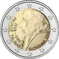 2 евро 2008 Словения 500 лет со дня рождения Приможа Трубара UNC из ролла