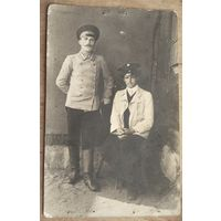 Фото двух мужчин. До 1917 г. 9х14 см