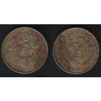 Кипр km56.1 10 центов 1983 год (10-сплошная) (f31)*