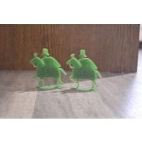 Рыцари зелёные на зелёных конях.