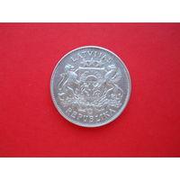 2 лата 1926 (2). Серебро. С 1 рубля.