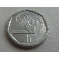 20 h Чехия 1997 г.в., KM# 2.1 20 HALERU, из коллекции