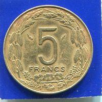 Центральная Африка 5 франков 1983