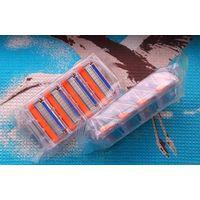 Лезвия (кассеты) для бритвы Gillette Fusion. Цена за упаковку из 4-х кассет для бритвы Джиллет Фьюжен.