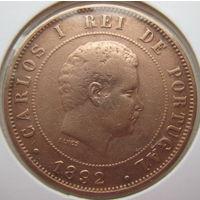Португалия 20 рейс 1892 г. В холдере (gk)