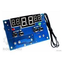 Термостат, терморегулятор цифровой светодиодный 12 вольт (выносной датчик в комплекте)