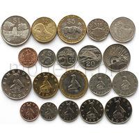 Зимбабве 10 монет 1997-2003 годов. Флора, фауна, архитектура, профессии (6 UNC, 4 VF-XF).