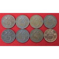 Нидерланды 5 центов. Цена за монету. Список внизу.