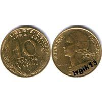 10 сантимов 1996 г. Франция.