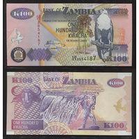 Распродажа коллекции. Замбия. 100 квача 2010 года (P-38i - 1992-2011 Issue)