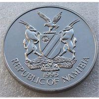 """Намибия. 10 долларов 1995 год  KM#9  """"50 лет Организации Объединенных Наций"""""""