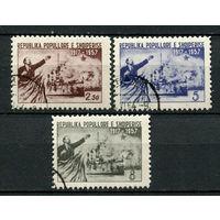 Албания - 1957 - 40 лет Октября. Ленин и Крейсер Аврора - [Mi. 550-552] - полная серия - 3 марки. Гашеные.  (Лот 58L)