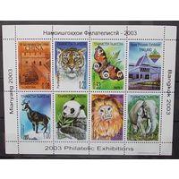 Таджикистан 2003 фауна (выставки)