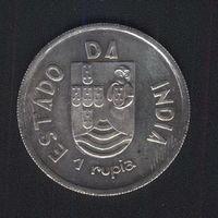 Португальская Индия 1 рупия 1935 г. Серебро.