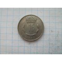 Люксембург 1 франк 1973г.
