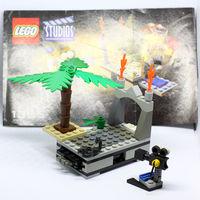 LEGO сцена для съемки с выдвижным полом, две минифигурки, кинокамера, скорпион, с инструкцией.