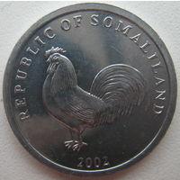 Сомалиленд 5 шиллингов 2002 г. Петух