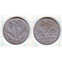 Франция 50 сантимов 1943