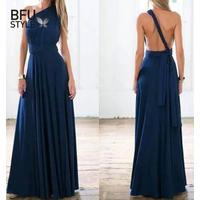 Платье с множеством вариантов дизайна.Тёмно синего цвета.