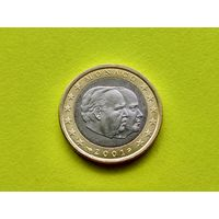 Монако, 1 евро 2001, биметалл.